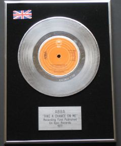 ABBA - Take A Chance On Me PLATINUM Single Presentation DISC